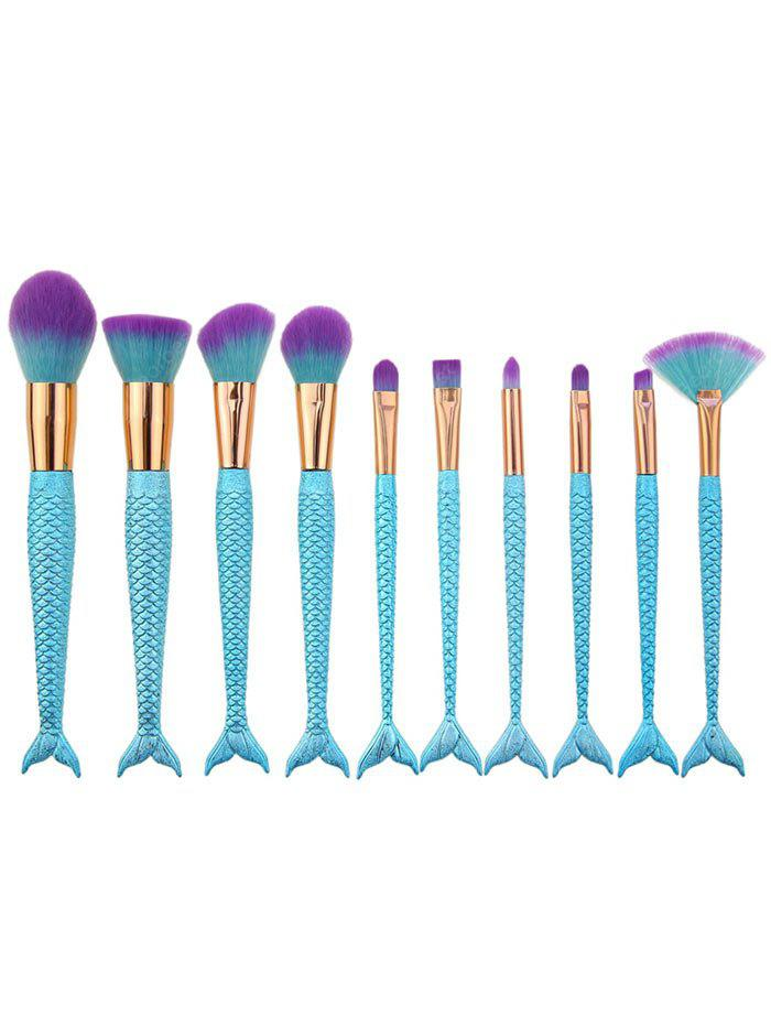 10Pcs Ombre Hair Sirma Handle Makeup Brushes Set