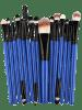 Stylish Multifunction 15 Pcs Plastic Handle Nylon Makeup Brushes Set - PRETO E AZUL