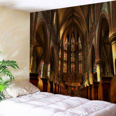 Buy BROWN Wall Hanging Art Decor Christian Church Print Tapestry for $19.22 in GearBest store