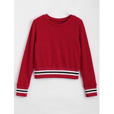 Stripes Panel Fitting Sweater