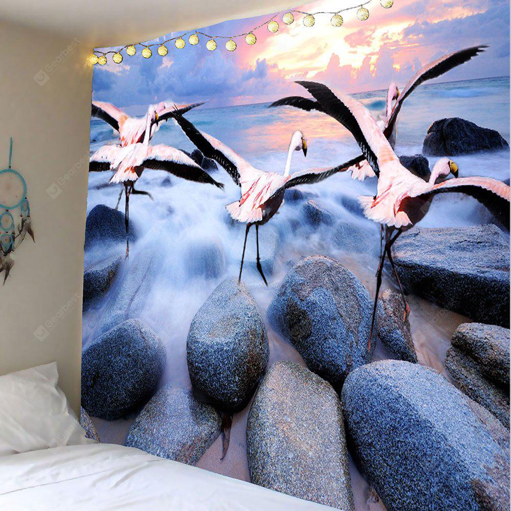 Crane Stone Printed Wall Hanging Tapestry