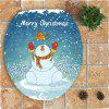 Christmas Snowman Pattern 3Pcs Bathroom Rugs Set - BLUE AND WHITE