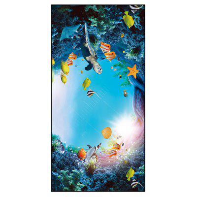Sea World Print Polyester Badetuch