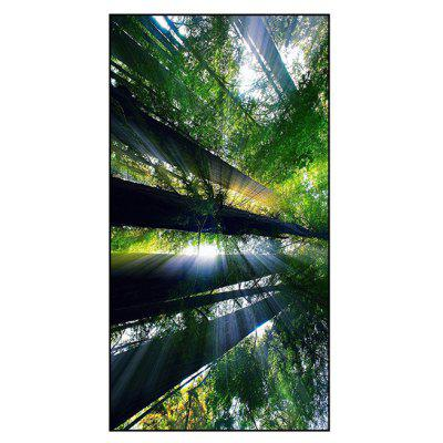 Forest Tree Print Polyester Bath Towel