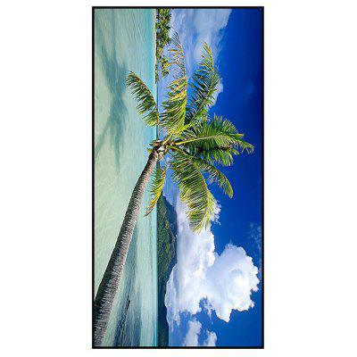 Coconut Tree Print Polyester Soft Bath Towel