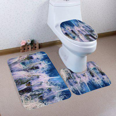 Buy COLORMIX Unicorn Pattern 3Pcs Toilet Decor Mats Set for $17.85 in GearBest store