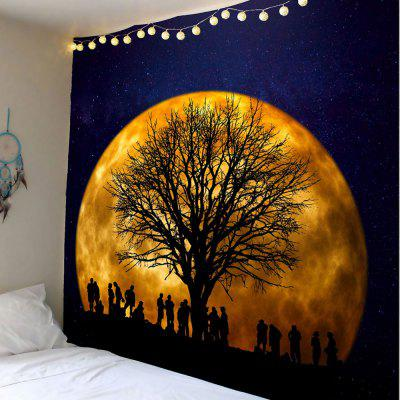 Galaxy Tree Printed Wall Hanging Tapestry