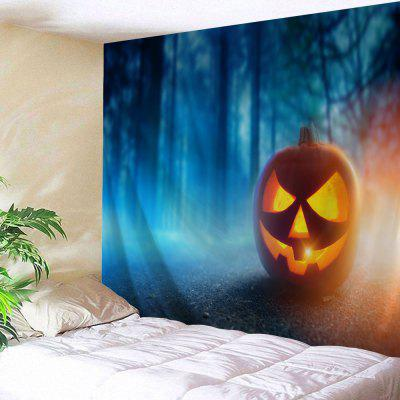Halloween Decor Foggy Forest Wall Tapestry