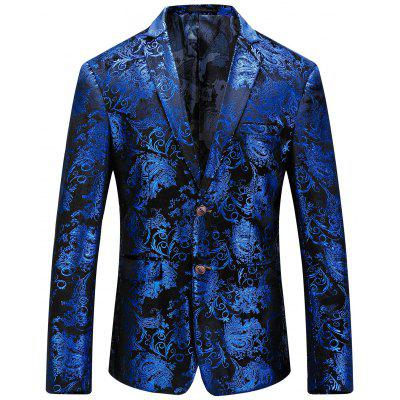 Floral Vergoldung Single Breasted Blazer