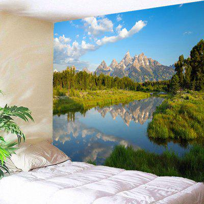 Buy GREEN Lake Forest Waterproof Wall Hanging Tapestry for $19.40 in GearBest store