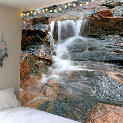Buy COLORMIX 3D Valley Flowing Water Printed Wall Hanging Tapestry for $22.25 in GearBest store