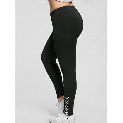 Plus Size Lace Up Skinny Pants