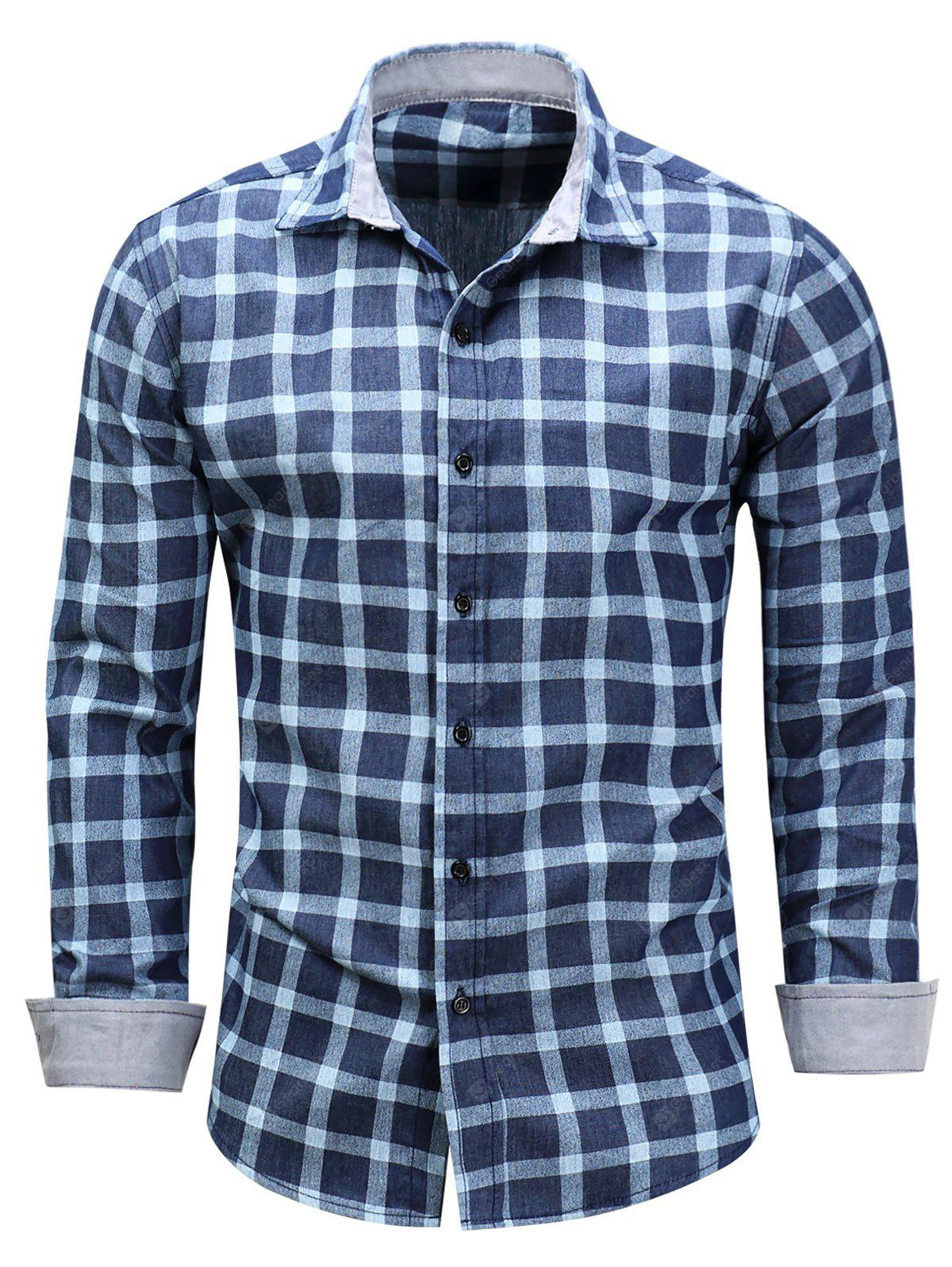 Chemise Chambray à manches longues