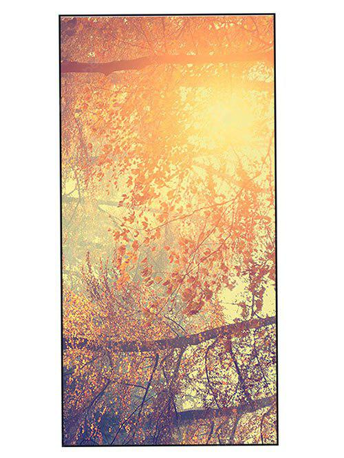 Sunshine Tree Print Polyester Soft Bath Towel