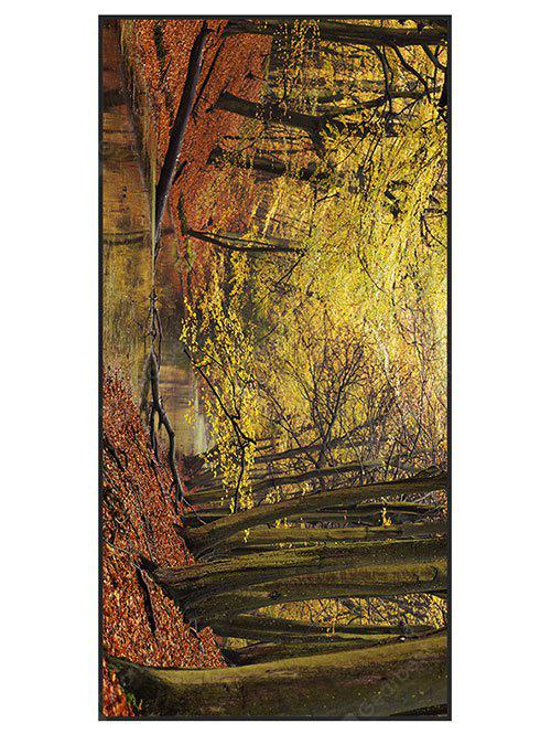 Autumn Forest Print Polyester Bath Towel