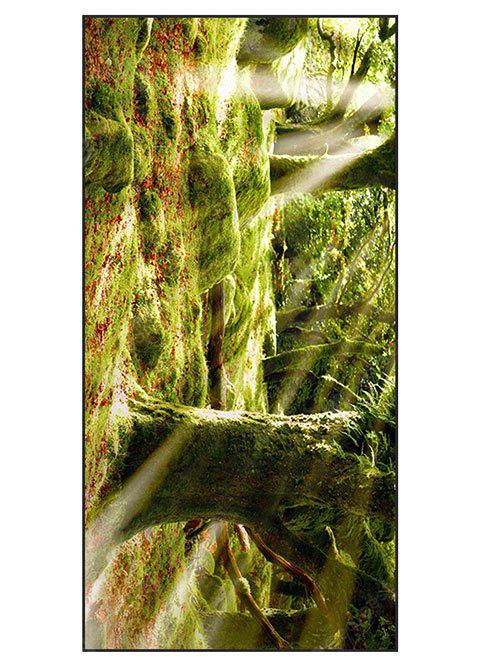 Natural Forest Print Polyester Soft Bath Towel
