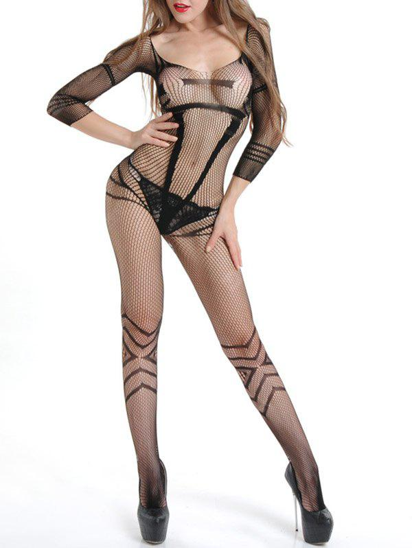 Sexy Fishnet Bodystocking with Sleeves