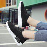 Breathable Low-top Mesh Sneakers - BLACK