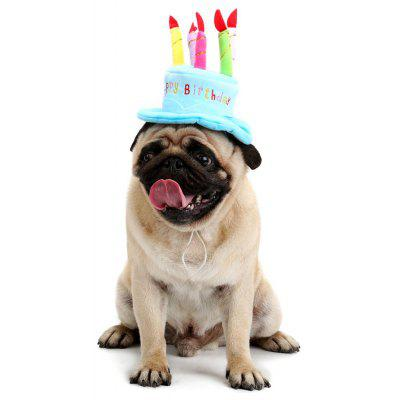 Pet Dog Candle Cake Shape Birthday Hat