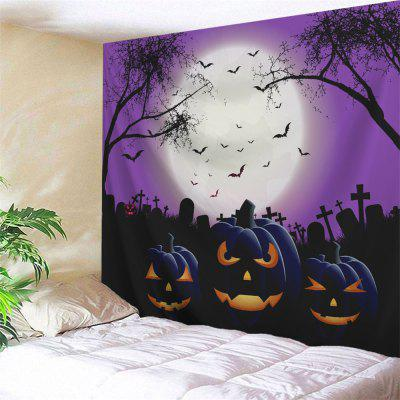 Buy COLORMIX Grimace Pumpkin Halloween Wall Art Tapestry for $16.06 in GearBest store
