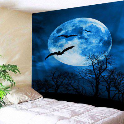 Moonnight Halloween Wall Art Decor Tapestry