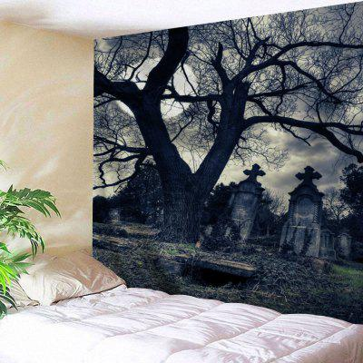 Buy BLACK GREY Halloween Gloomy Night Wall Hanging Tapestry for $14.03 in GearBest store