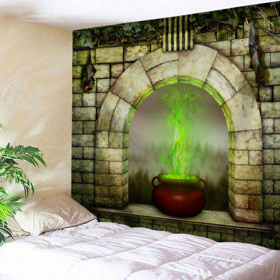 Buy COLORMIX Window Censer Halloween Wall Tapestry for $22.35 in GearBest store