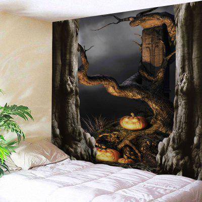 Buy DEEP GRAY Wall Hanging Halloween Decor Art Tapestry for $12.18 in GearBest store