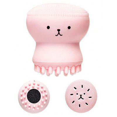 Cartoon Octopus Double Head Silicone Facial Cleansing Brush