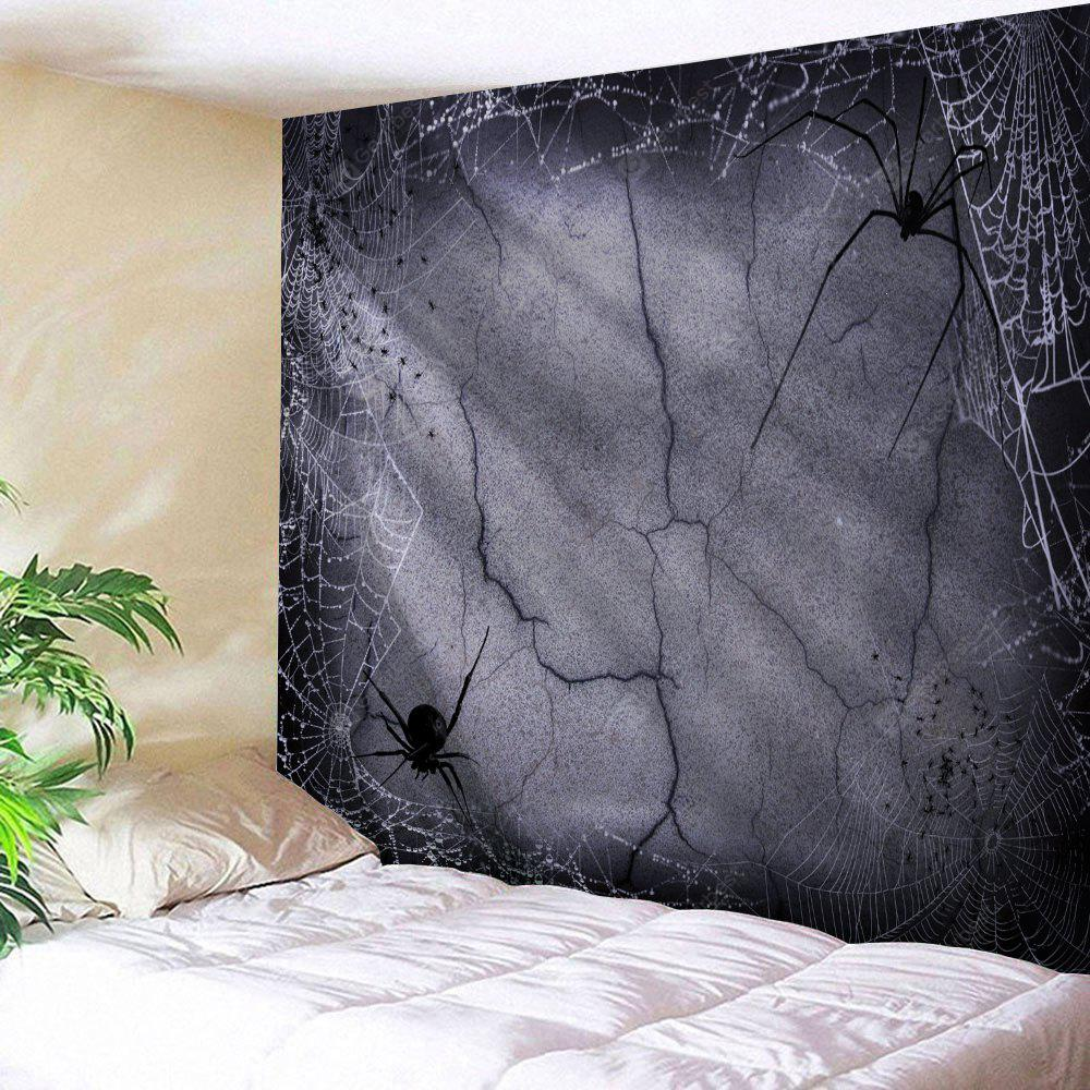 Wall Hanging Art Decor Halloween Spider Web Print Tapestry