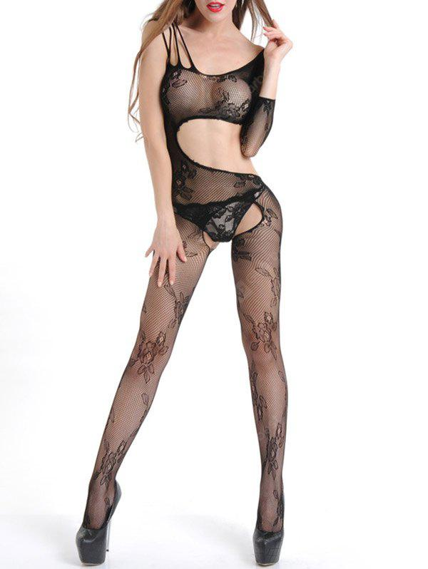 Ripped Cut Out Fishnet Bodystocking