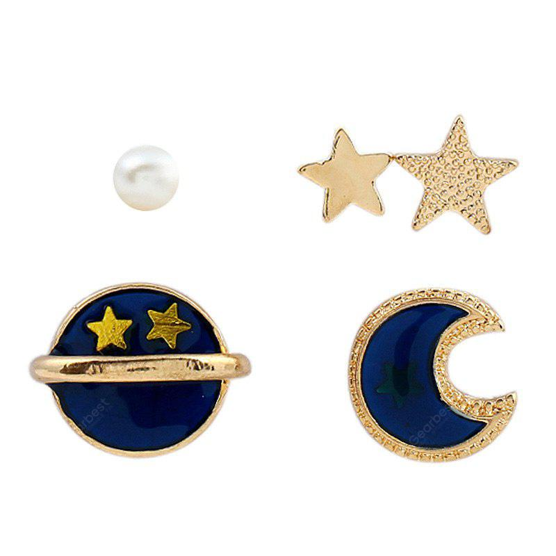 5 Pieces Star Sun Moon Earrings