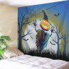 Funny Halloween Theme Wall Hanging Tapestry - COLORMIX