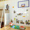 Cartoon Animal Troops Wall Art Sticker For Kids Room - EXéRCITO VERDE