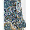 Wrap Printed Flare Sleeve Maxi Dress - COLORMIX