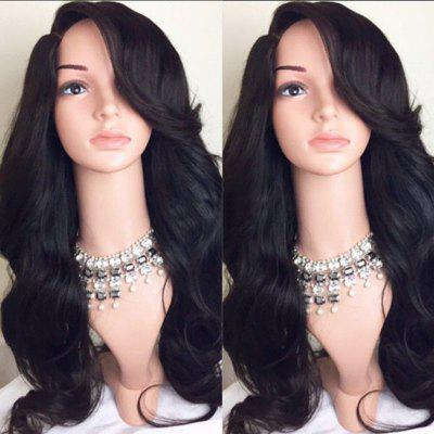 Long Deep Side Part Wavy Synthetic Wig