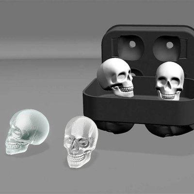 Halloween 3D Skull Flexible Silicone Ice Cube Tray