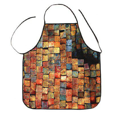 Psychedelic Brick Print Apron Kitchen Product