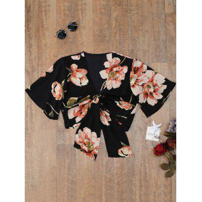 Flower Knot Cover Up Top