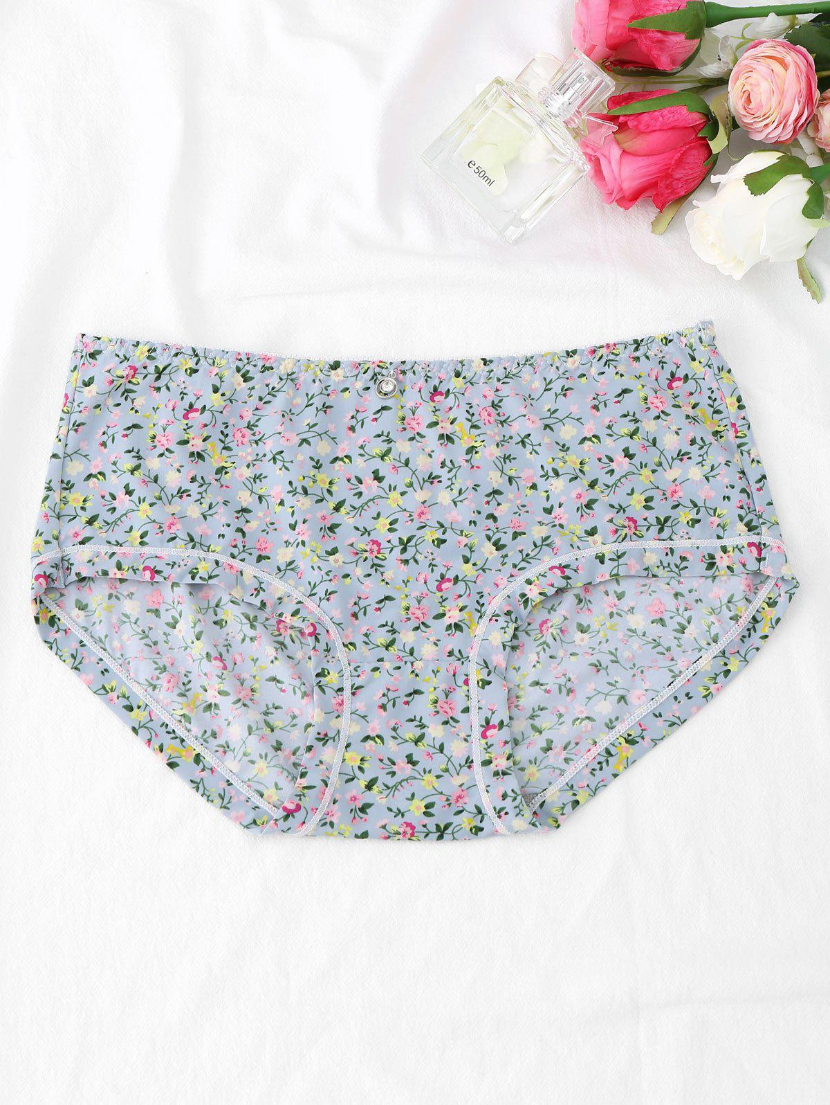 Cute Tiny Floral Hipster Panties