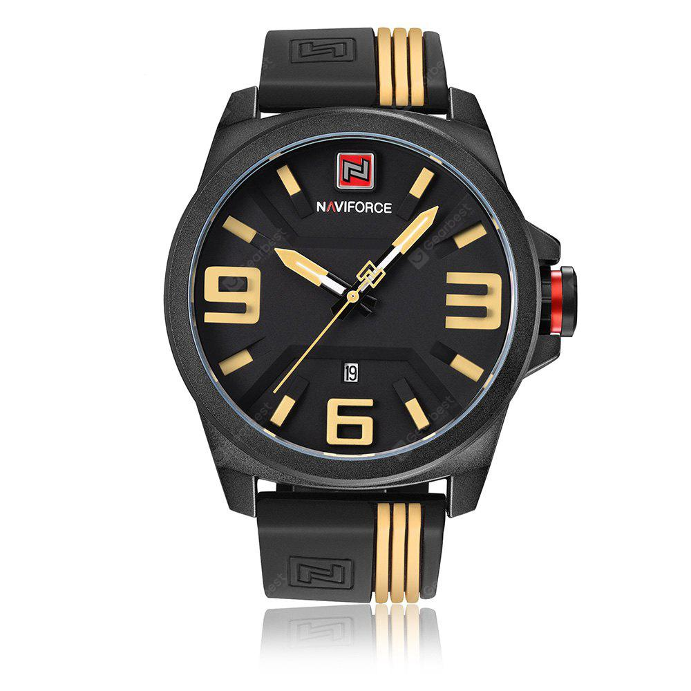 NAVIFORCE 9098 Silicone Strap Date Luminous Watch - 0.00€  c708aac1692