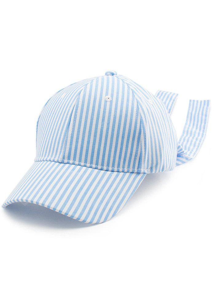 Striped Bowknot Long Tail Baseball Hat