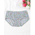 Cute Tiny Floral Hipster Panties - LIGHT BLUE