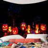 Halloween Night Pumpkin Light Waterproof Wall Tapestry - COLORFUL