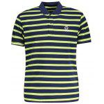 T-Shirt Polo à Rayures pour Homme - HERBE VERTE