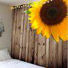Sunflower Pattern Wall Hanging Tapestry - WOOD