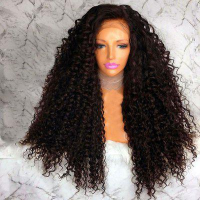 Long Free Part Afro Shaggy Curly Lace Front Synthetic Wig