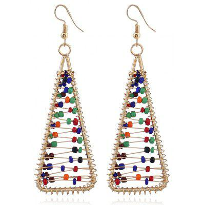 Statement Beaded Triangle Hook Earrings