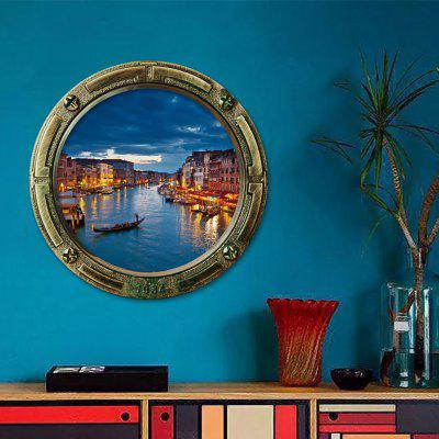 3D Water Watery City Removable Wall Art Sticker