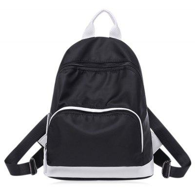 Buy BLACK Color Block Zippers Nylon Backpack for $22.14 in GearBest store